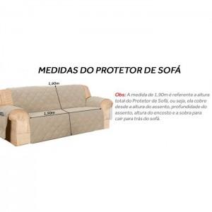 Conjunto de Protetores para Sofá de 3 e 2 Lugares Elegance Dupla Face