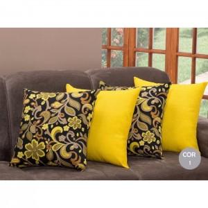 Kit com 4 Almofadas Decorativas Cheias Espuma Picada